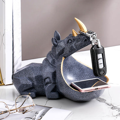 Rhino Storage Figurine