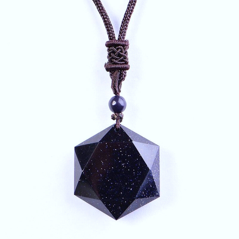 Obsidian Stardust Stone Necklace