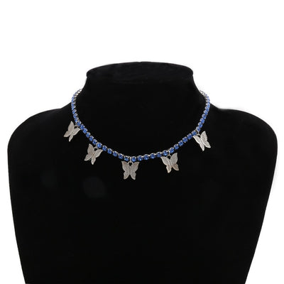Sierra Crystal Butterfly Necklace