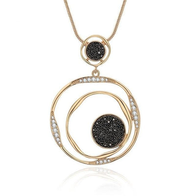 Crystal Eclipse Pendant Necklace