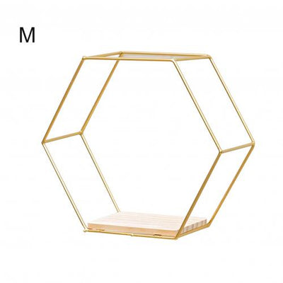 Nordic Hexagonal Iron Shelf