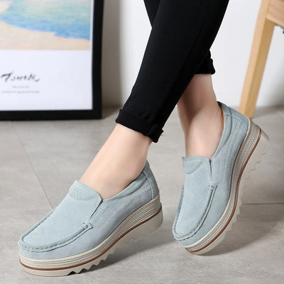 Layla Suede Slip On Shoes