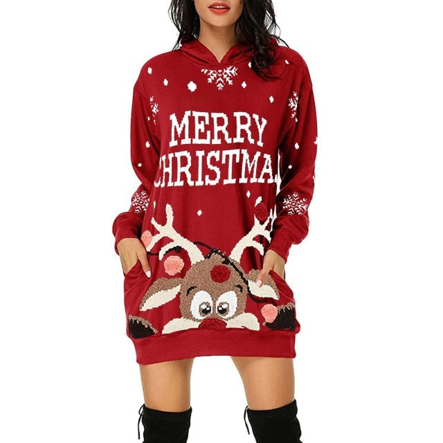 Merry Christmas Sweater Dress