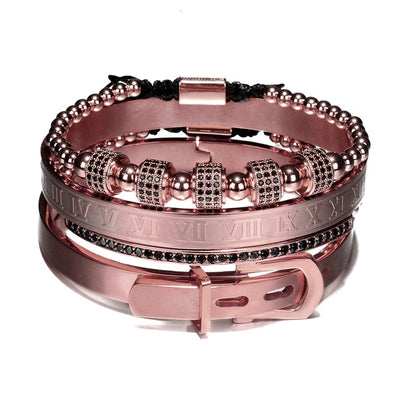 Maximus Roman Steel Bracelet Set