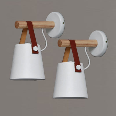 Hanging Bucket Wall Lamp