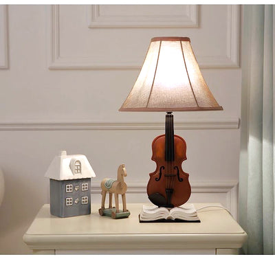 Decorative Violin Table Lamp