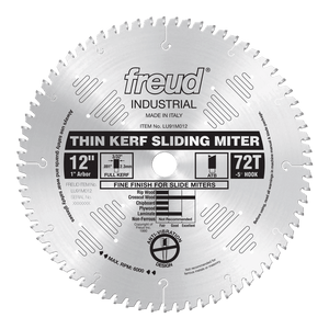"12"" Thin Kerf Sliding Compound Miter Saw Blade"