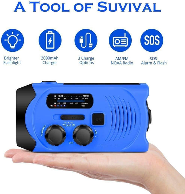 8in1 Solar Hand Crank Emergency Weather Radio【50%OFF】【FREE DELIVERY】