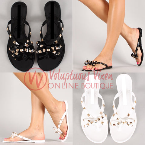 Bow Studded Sandal