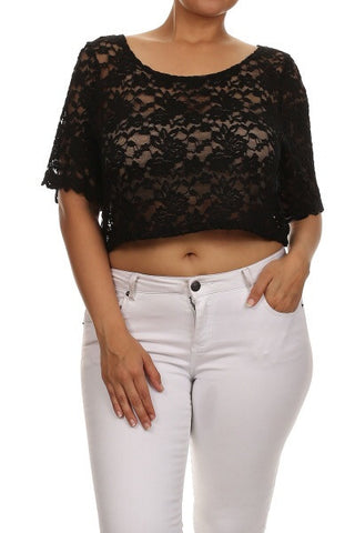 Lace Crop Top(More Colors)