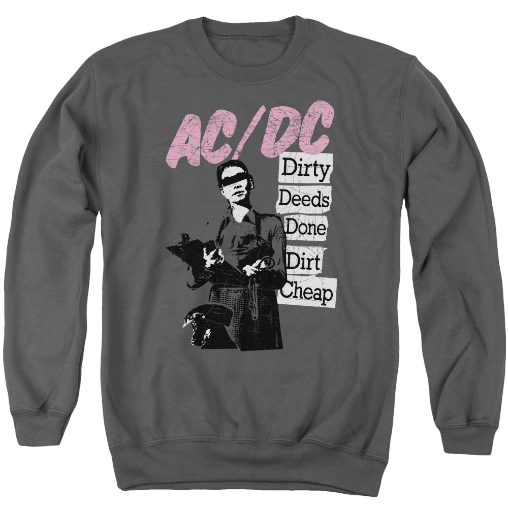 AC/DC Dirty Deeds Mens Crewneck Sweatshirt Charcoal