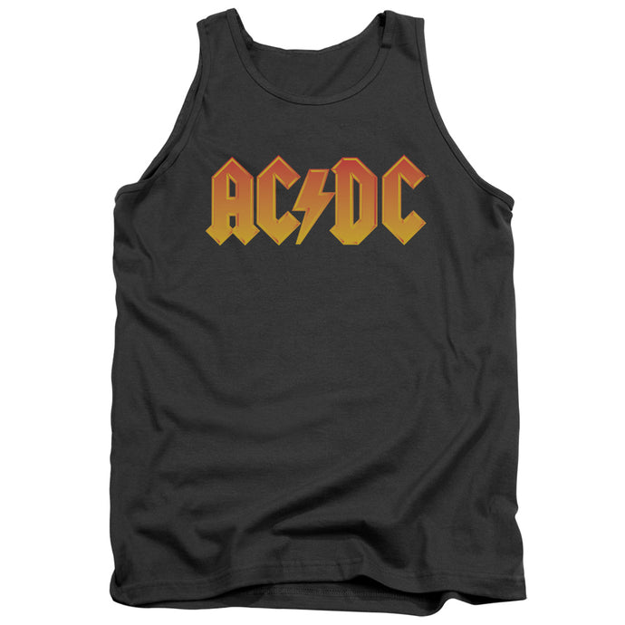 AC/DC Logo Mens Tank Top Shirt Charcoal