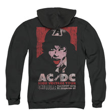 Load image into Gallery viewer, AC/DC High Voltage Live 1975 Back Print Zipper Mens Hoodie Black