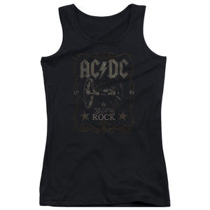 AC/DC Rock Label Womens Tank Top Shirt Black