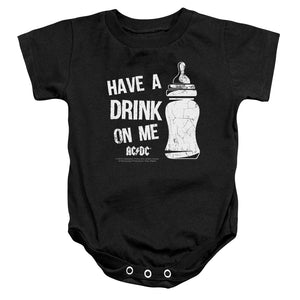AC/DC Drink On Me Infant Baby Snapsuit Black