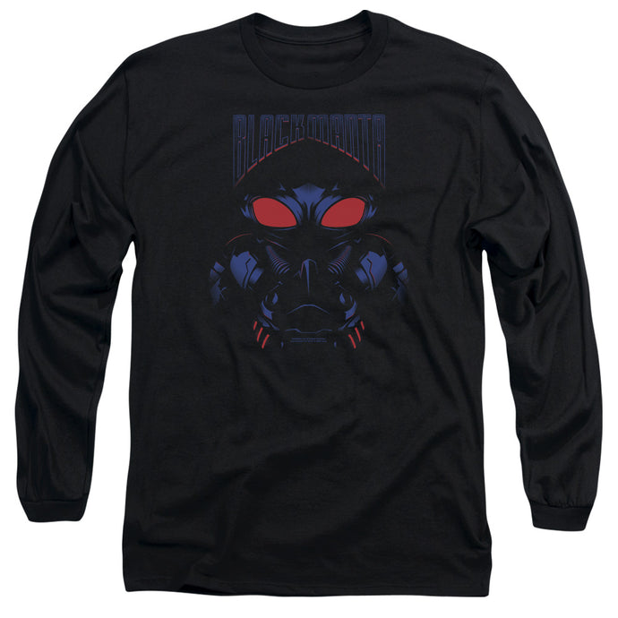 Aquaman Movie Black Manta Mens Long Sleeve Shirt Black