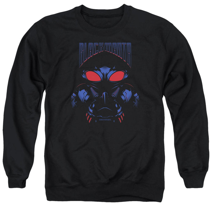 Aquaman Movie Black Manta Mens Crewneck Sweatshirt Black