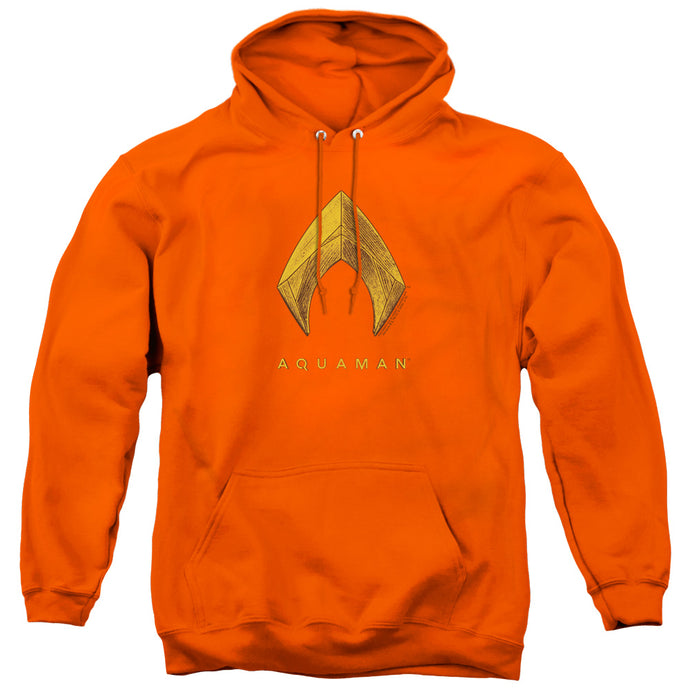 Aquaman Movie Aquaman Logo Mens Hoodie Orange
