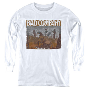 Bad Company Swan Song Long Sleeve Kids Youth T Shirt White