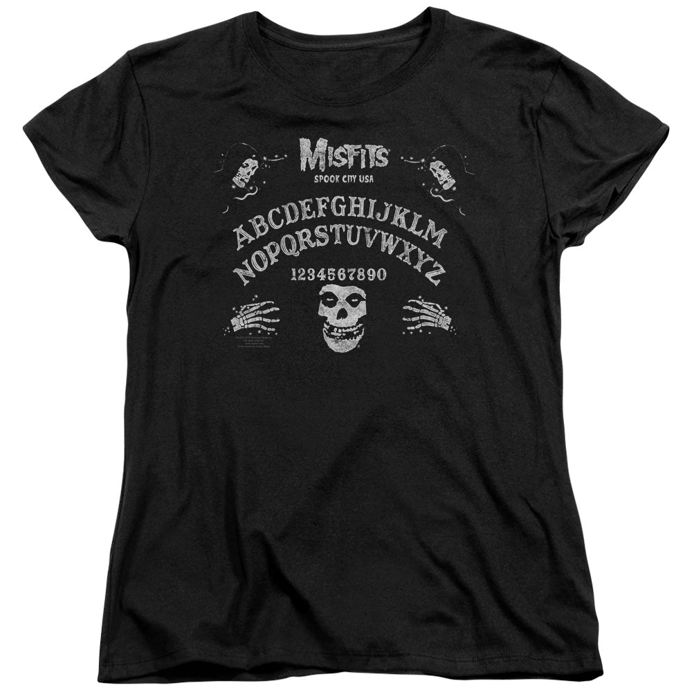 Misfits Ouija Board Womens T Shirt Black