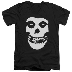 Misfits Fiend Skull Mens Slim Fit V-Neck T Shirt Black