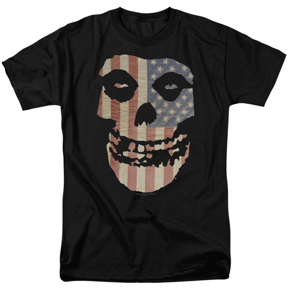 Misfits Fiend Flag Colored Mens T Shirt Black