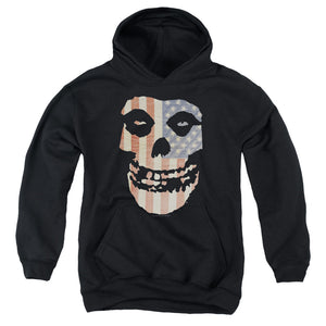 Misfits Fiend Flag Colored Kids Youth Hoodie Black