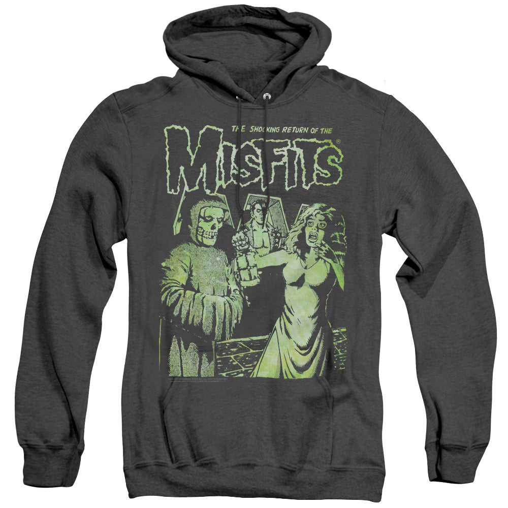 Misfits The Return Heather Mens Hoodie Black
