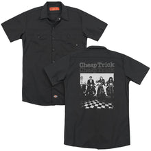 Load image into Gallery viewer, Cheap Trick Cheap Trick Bikes Back Print Mens Work Shirt Black