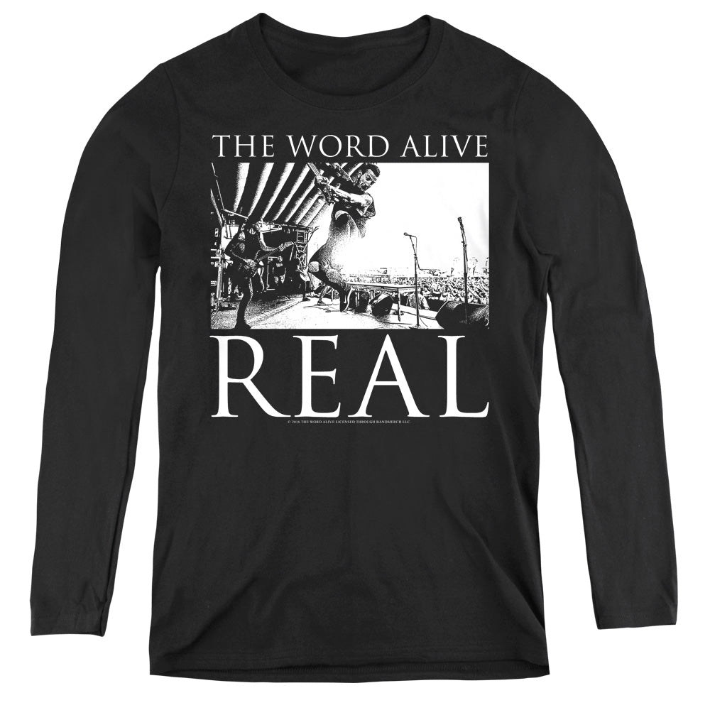 The Word Alive Live Shot Womens Long Sleeve Shirt Black