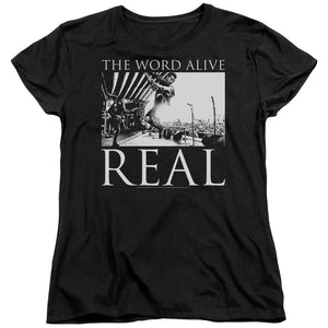 The Word Alive Live Shot Womens T Shirt Black