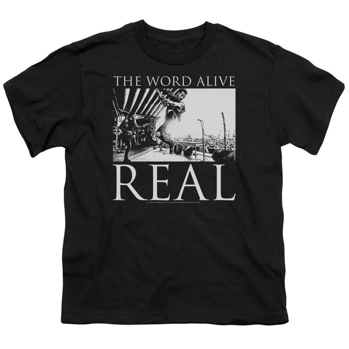 The Word Alive Live Shot Kids Youth T Shirt Black