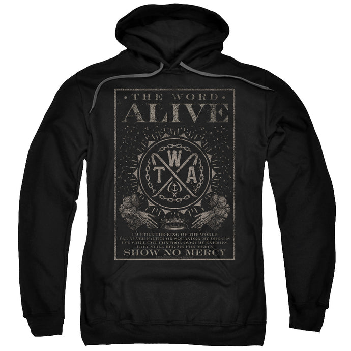 The Word Alive Show No Mercy Mens Hoodie Black