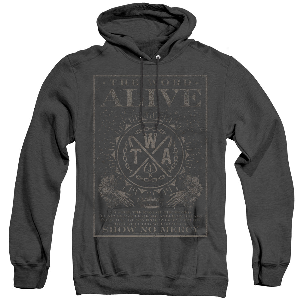 The Word Alive Show No Mercy Heather Mens Hoodie Black