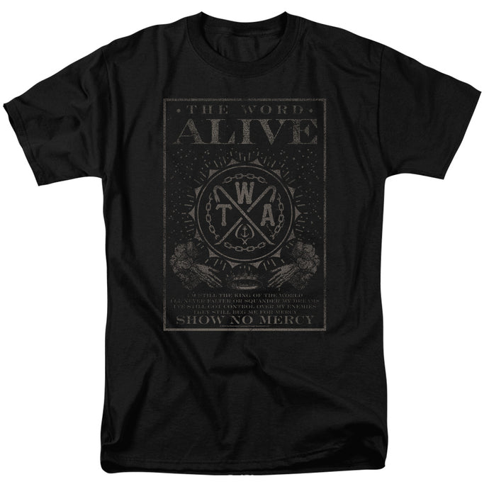 The Word Alive Show No Mercy Mens T Shirt Black