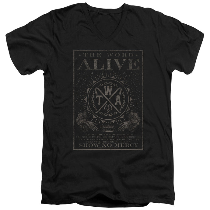 The Word Alive Show No Mercy Mens Slim Fit V-Neck T Shirt Black