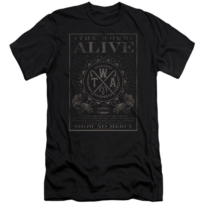 The Word Alive Show No Mercy Slim Fit Mens T Shirt Black