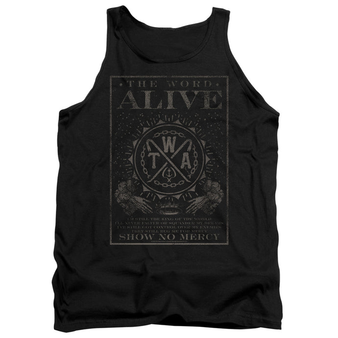The Word Alive Show No Mercy Mens Tank Top Shirt Black