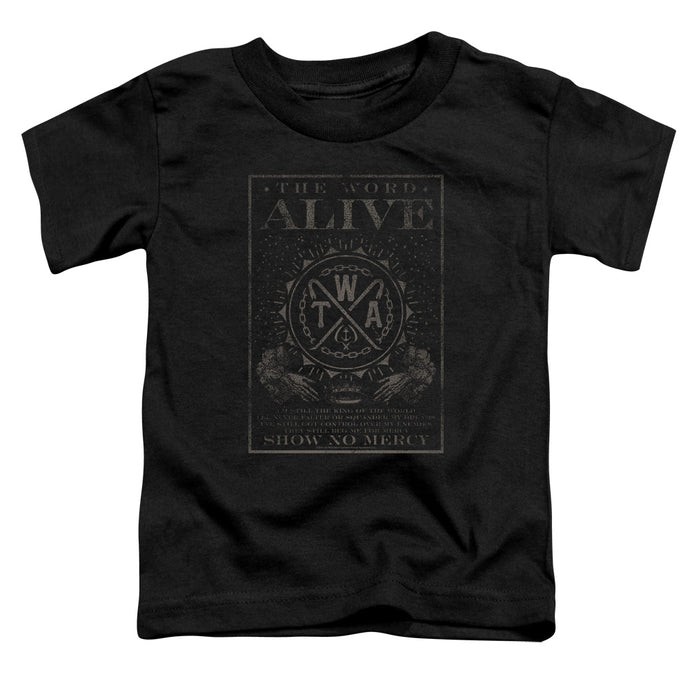 The Word Alive Show No Mercy Toddler Kids Youth T Shirt Black