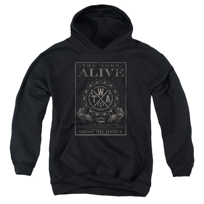 The Word Alive Show No Mercy Kids Youth Hoodie Black