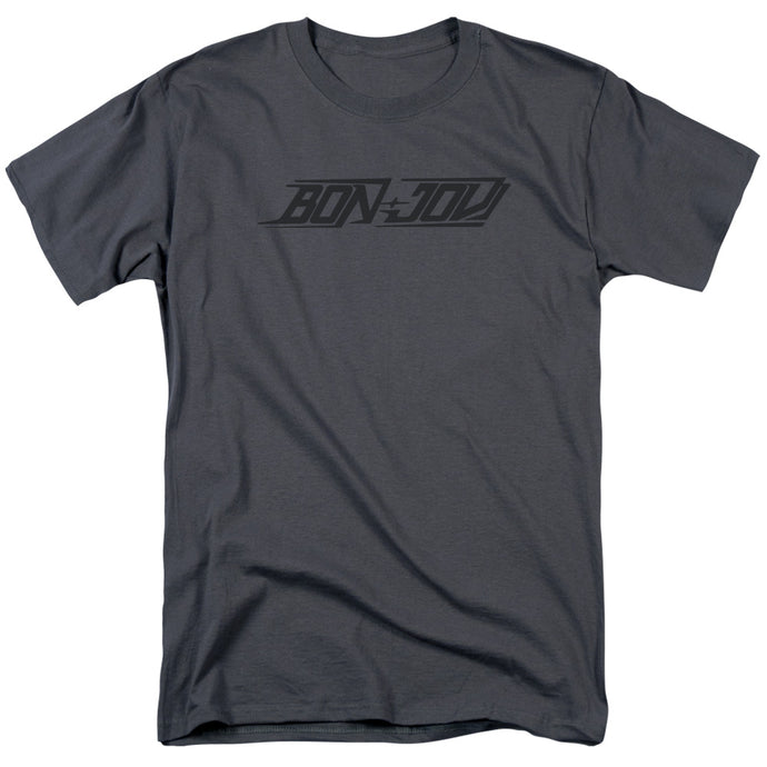 Bon Jovi New Logo Mens T Shirt Charcoal