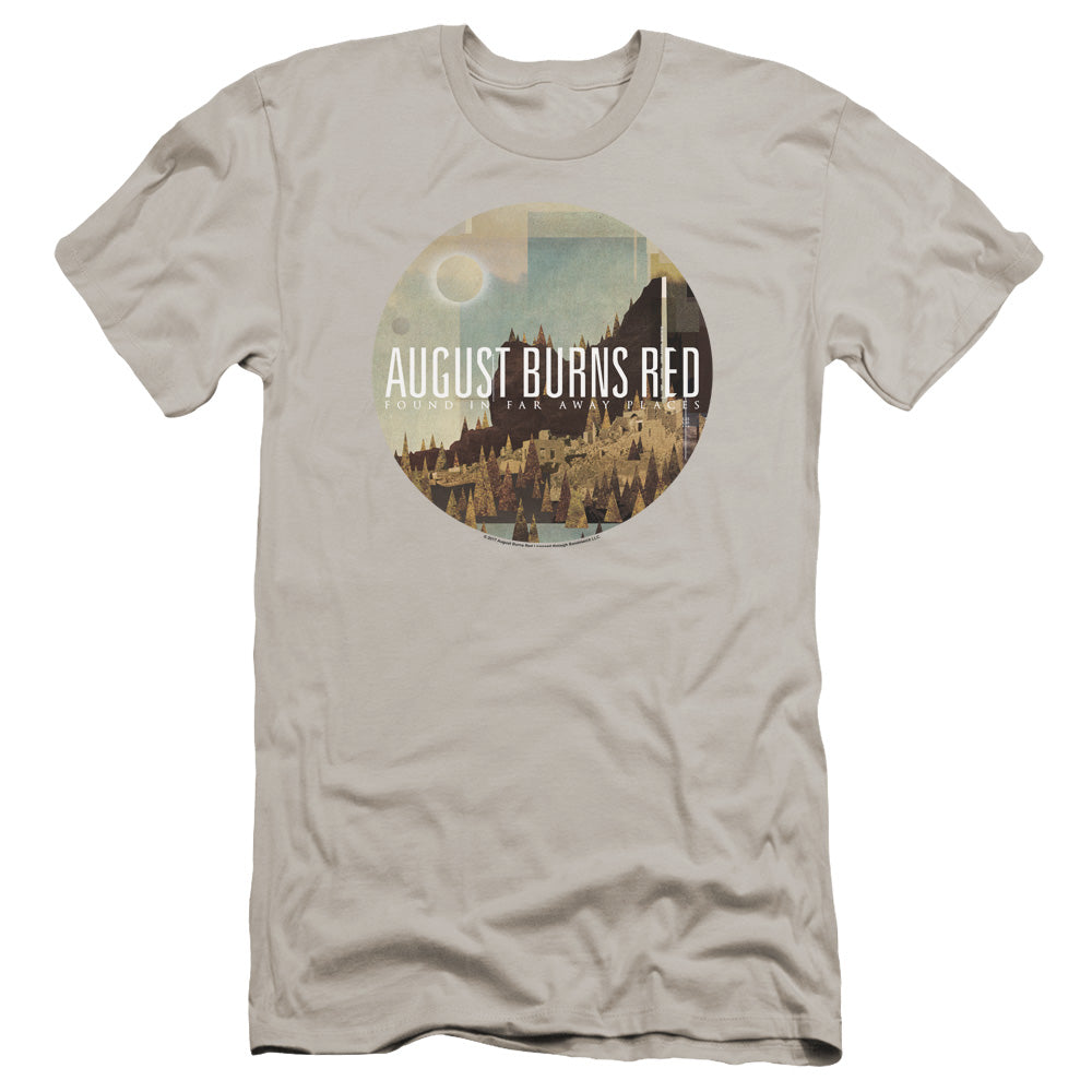 August Burns Red Far Away Places Premium Bella Canvas Slim Fit Mens T Shirt Silver