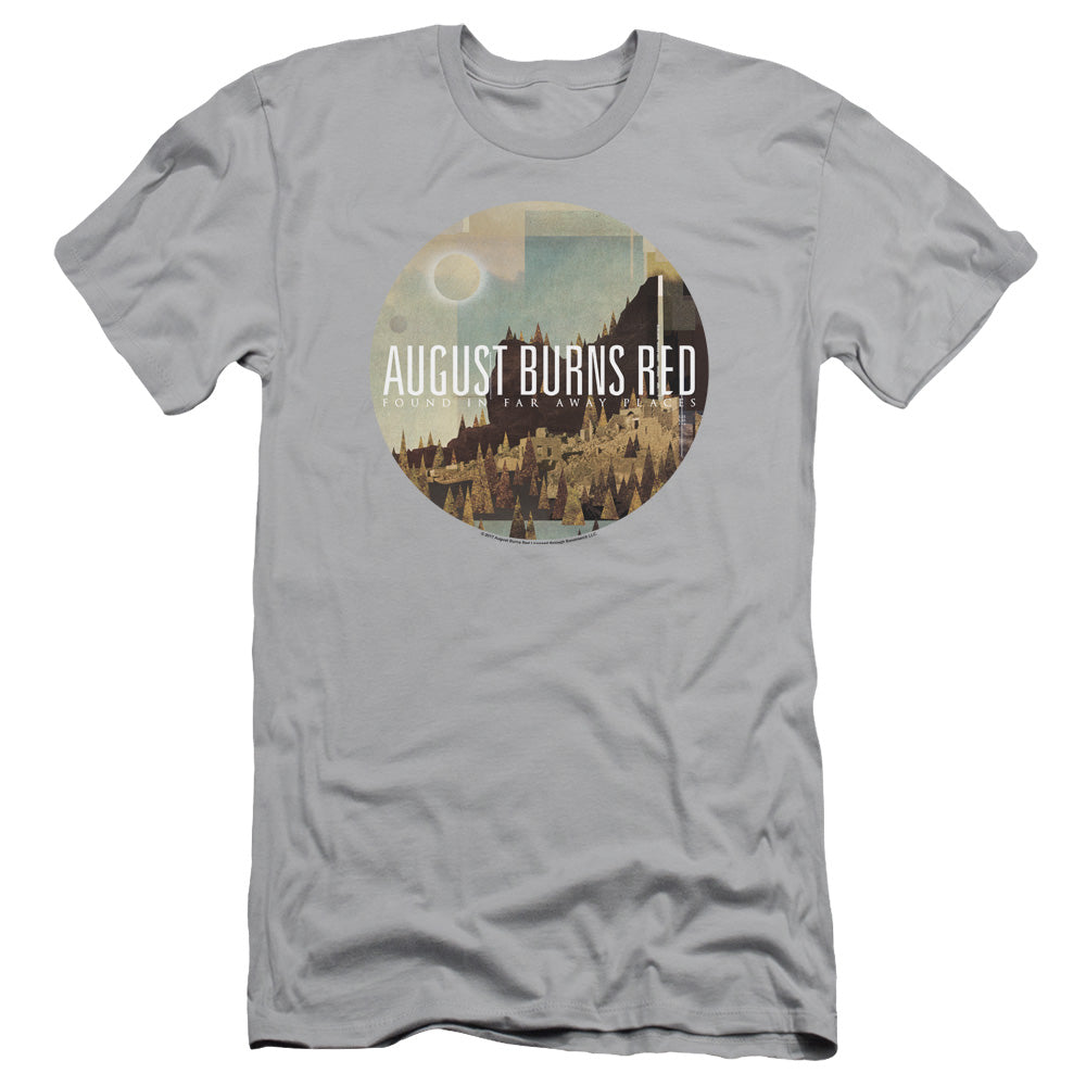 August Burns Red Far Away Places Slim Fit Mens T Shirt Silver