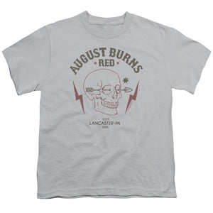 August Burns Red Arrow Skull Kids Youth T Shirt Silver