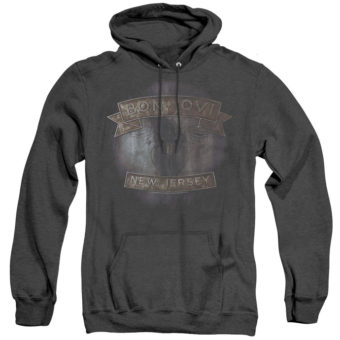 Bon Jovi New Jersey Heather Mens Hoodie Black