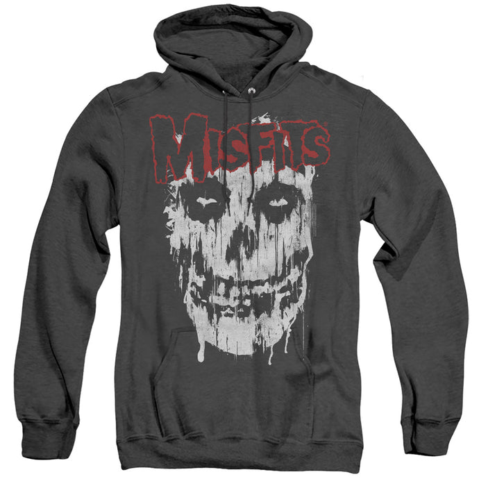 Misfits Splatter Heather Mens Hoodie Black