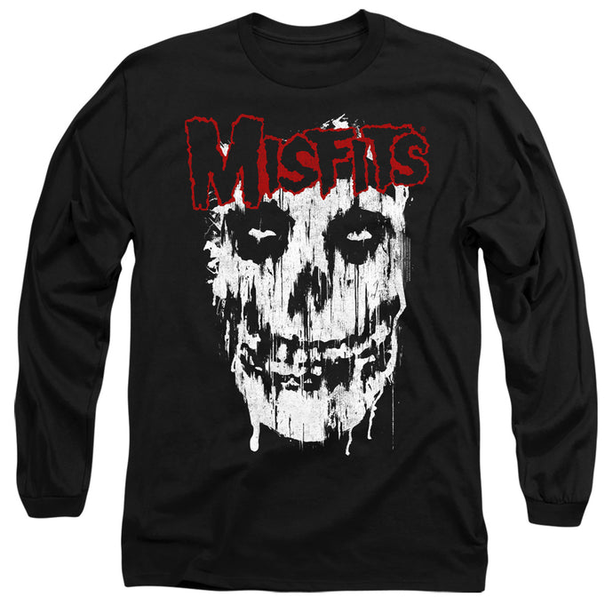 Misfits Splatter Mens Long Sleeve Shirt Black