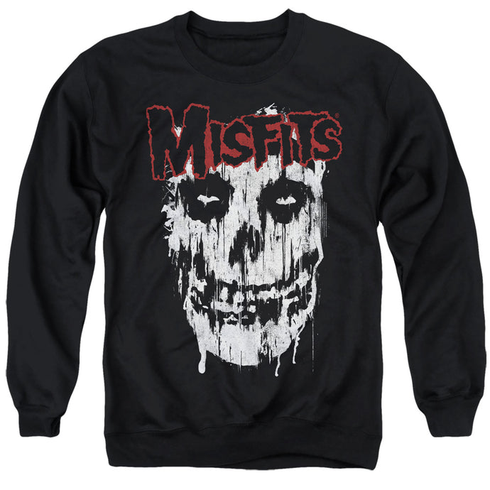 Misfits Splatter Mens Crewneck Sweatshirt Black