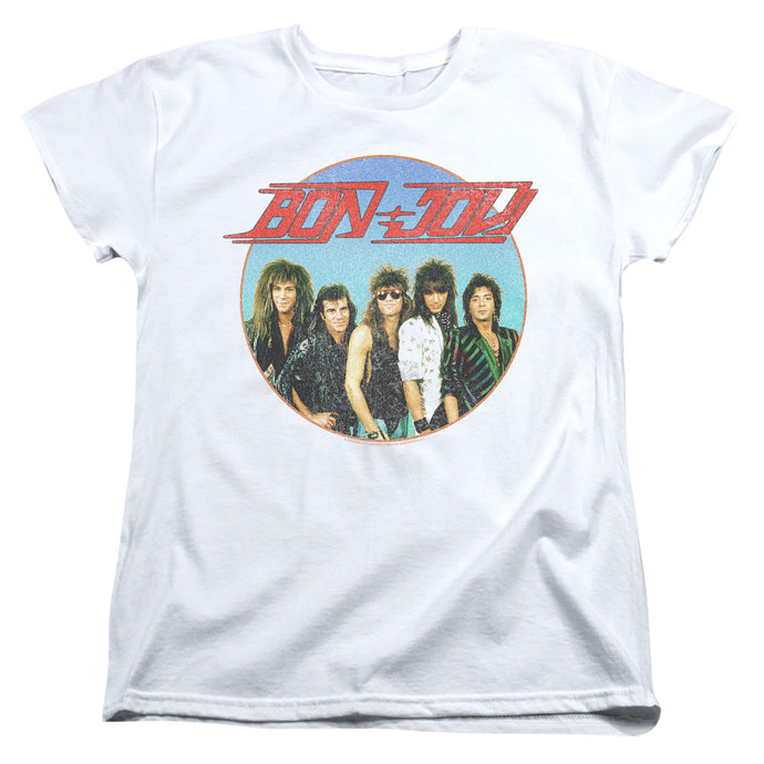 Bon Jovi Bon Sphere Womens T Shirt White