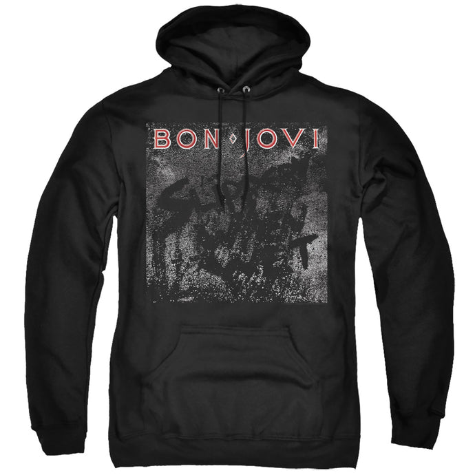 Bon Jovi Slippery Cover Mens Hoodie Black